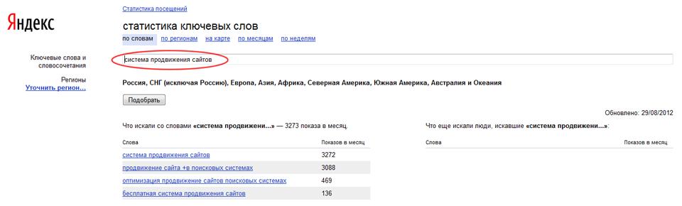 Система продвижение сайта под поисковые запросы продвижение сайта по каждому ключевому слову предоставляется детальная статистика