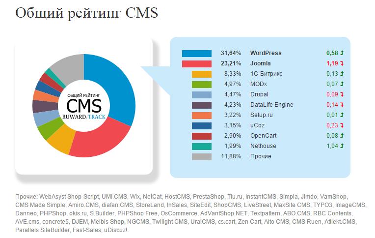Setup.ru — конструктор №1 в общем рейтинге CMS Рунета